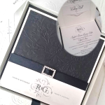 BLACK ROSE BOXED INVITATION