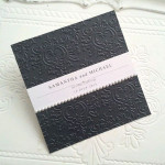 FLAT EMBOSSED BLACK WITH PEARLS