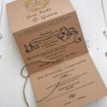 KRAFT TRIFOLD INVITATION