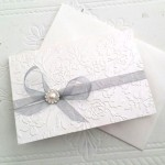 ROSE EMBOSSED INVITATION