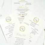 Vintage invitation + inserts